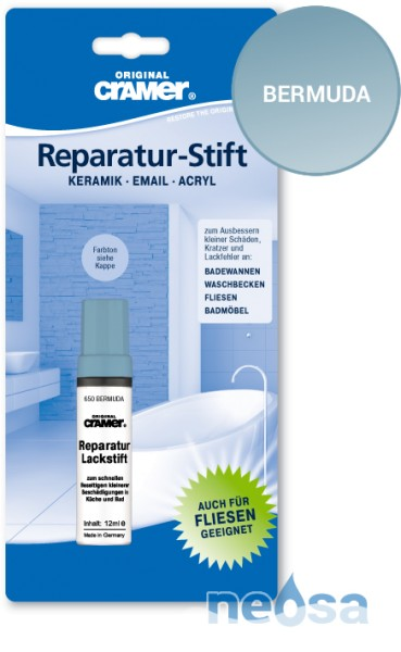 Cramer Reparatur-Stift Bermudablau für Keramik, Acryl und Email